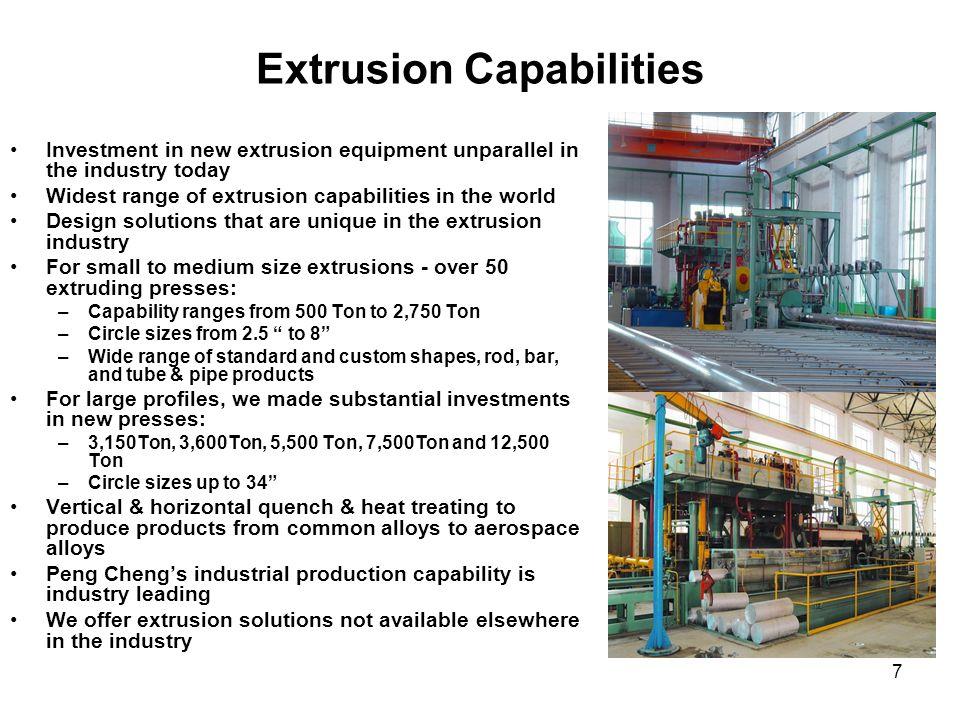 Extrusion Capabilities