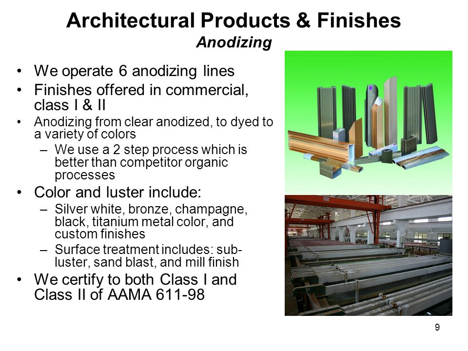 Architectural Products & Finishes Anodizing