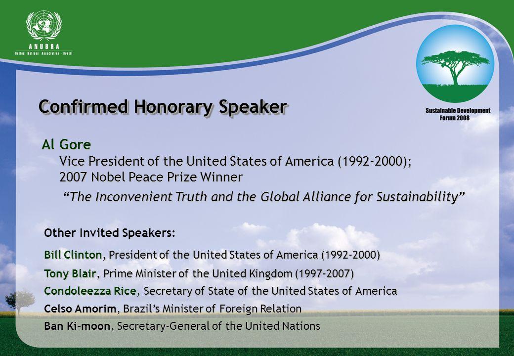 Confirmed Honorary Speaker