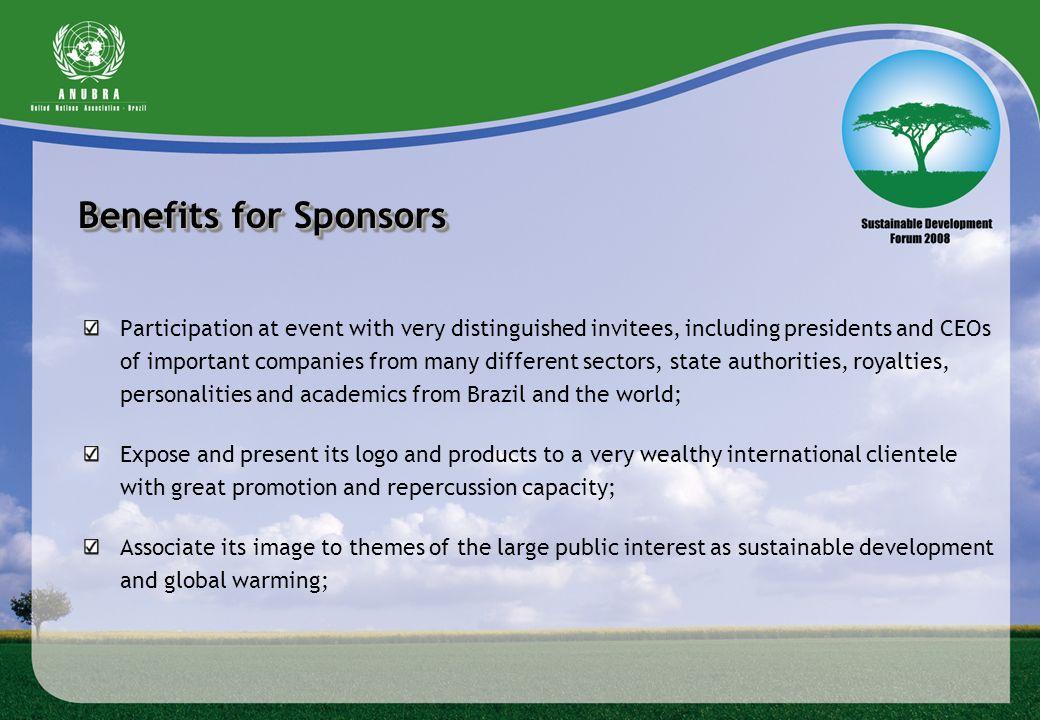 Benefits for Sponsors