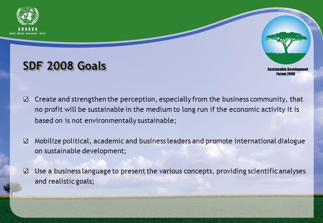SDF 2008 Goals