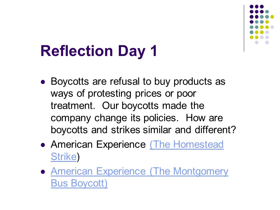 Reflection Day 1