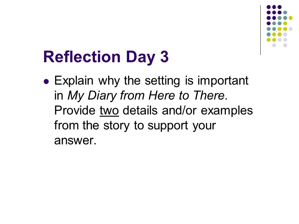 Reflection Day 3