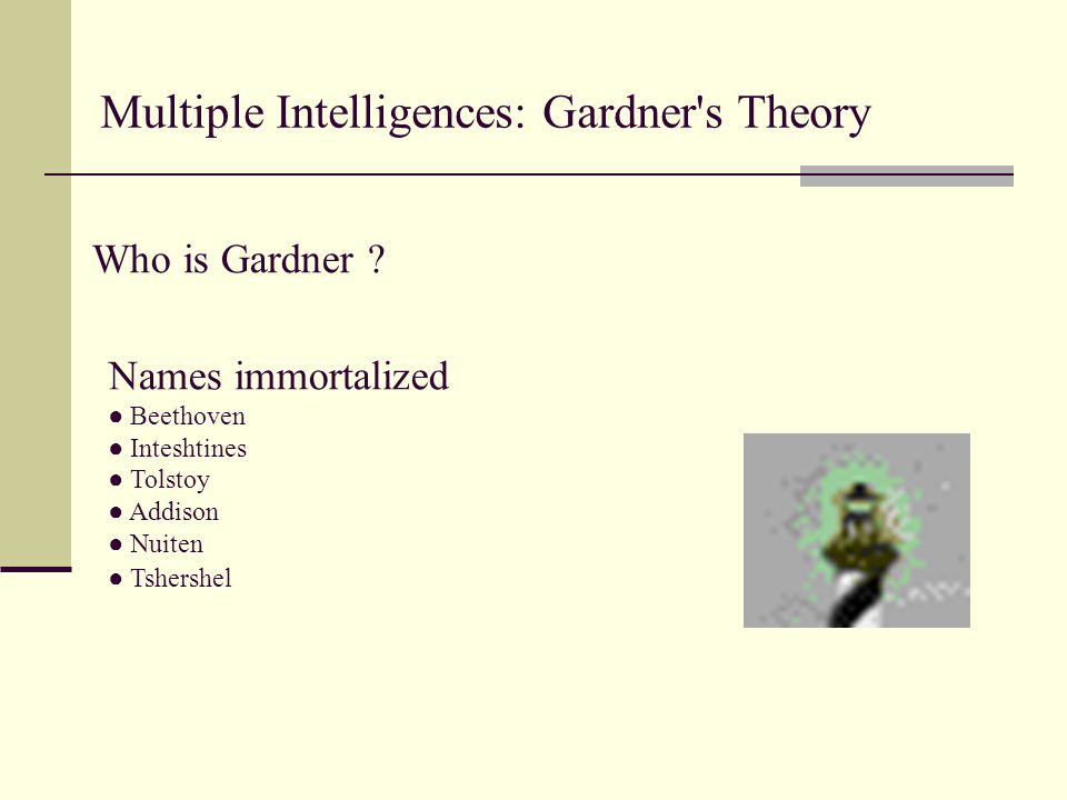 Multiple Intelligences: Gardner s Theory