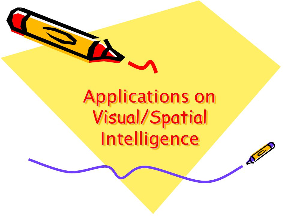 Applications on Visual/Spatial Intelligence