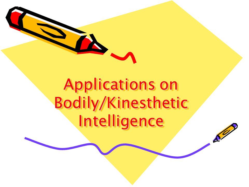 Applications on Bodily/Kinesthetic Intelligence