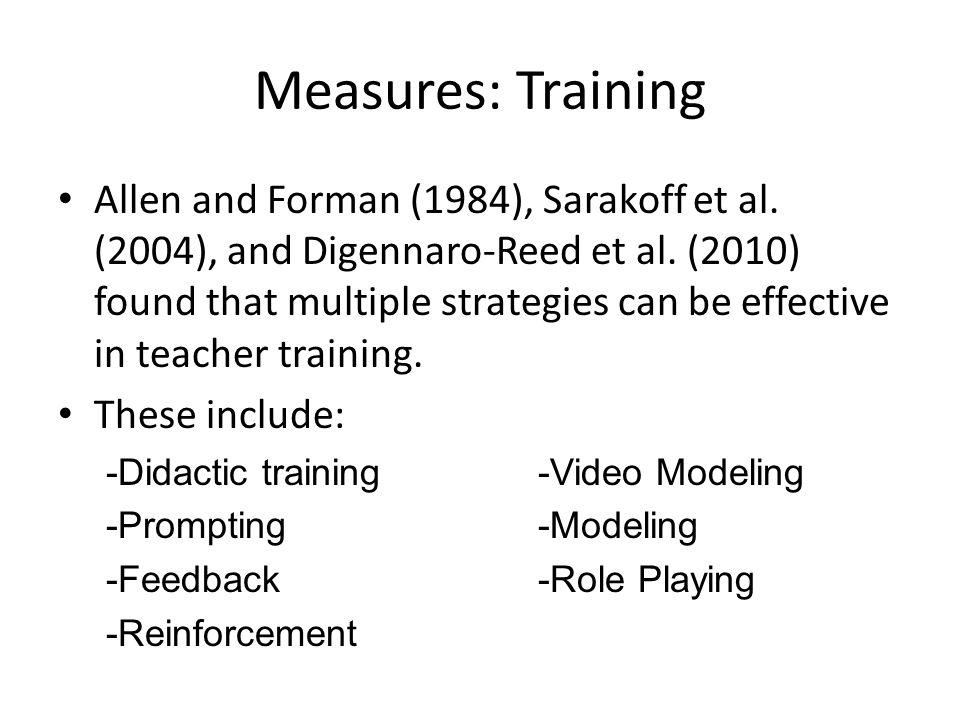 Measures: Training