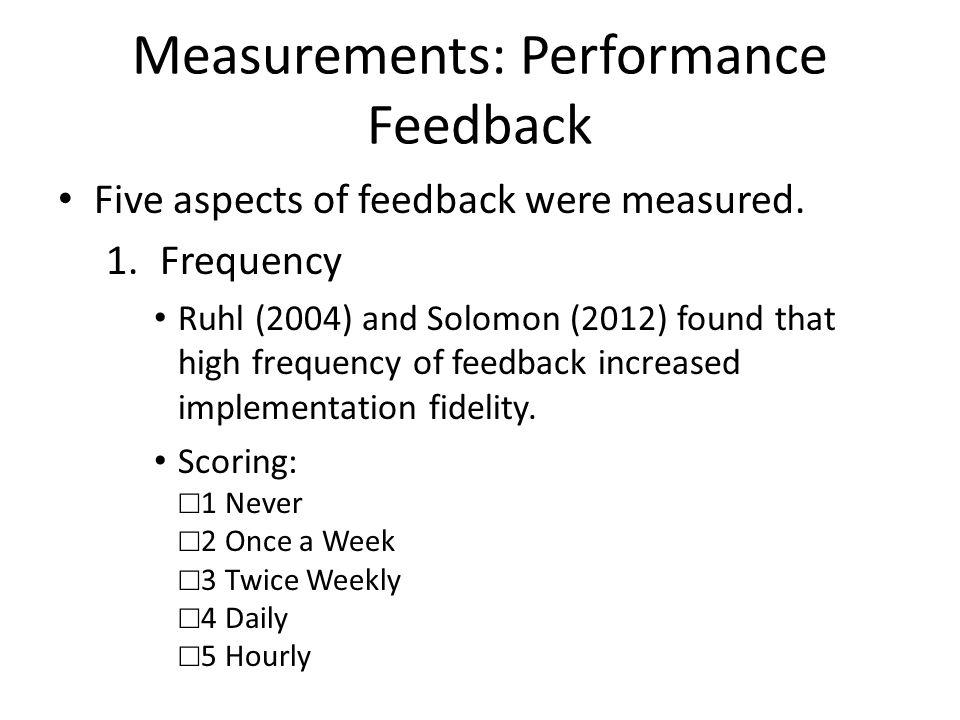 Measurements: Performance Feedback