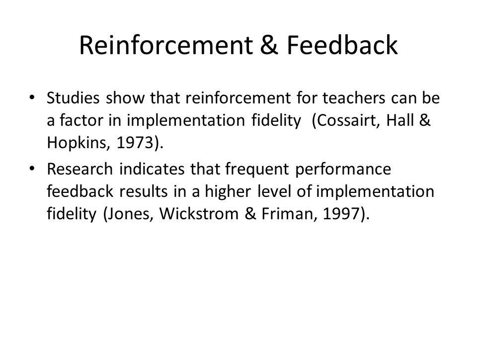 Reinforcement & Feedback