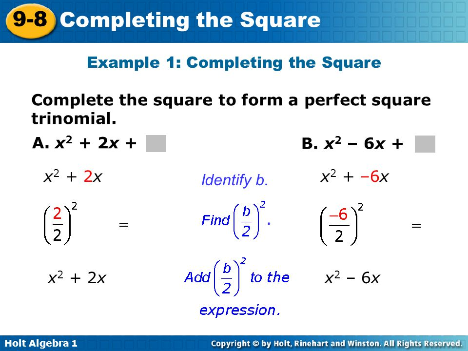 9 8 completing the square warm up lesson presentation lesson quiz ppt video online download. Black Bedroom Furniture Sets. Home Design Ideas