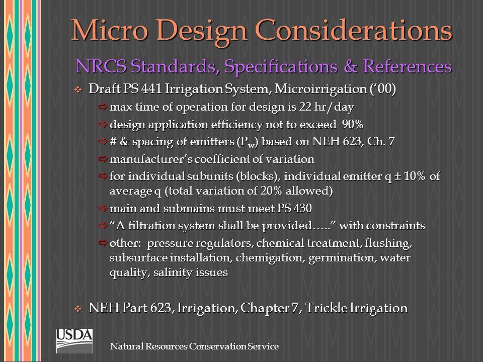 Micro Design Considerations