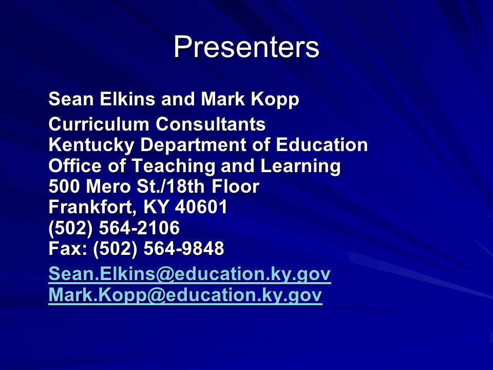 Presenters Sean Elkins and Mark Kopp
