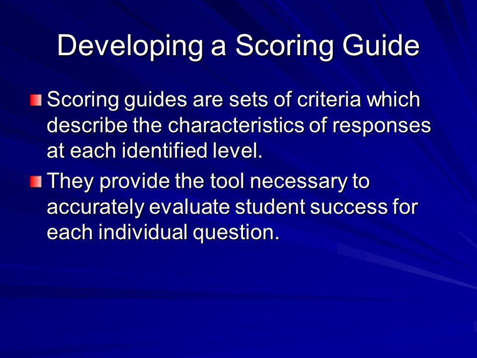 Developing a Scoring Guide