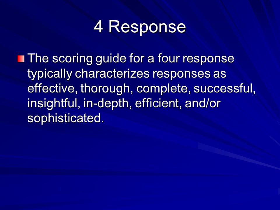 4 Response