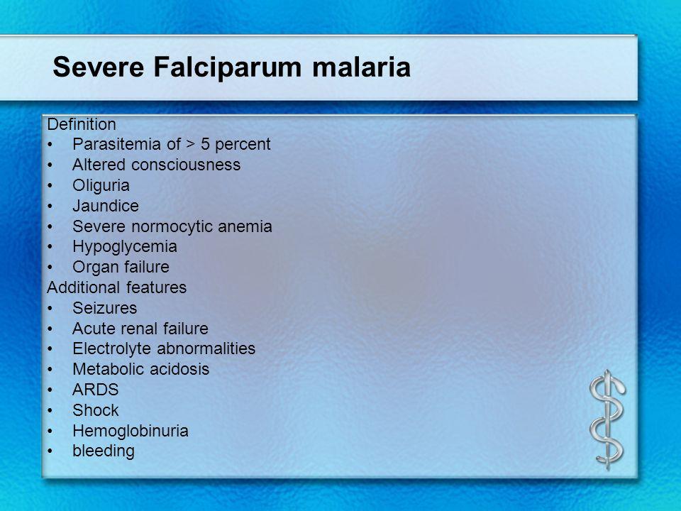 Severe Falciparum malaria