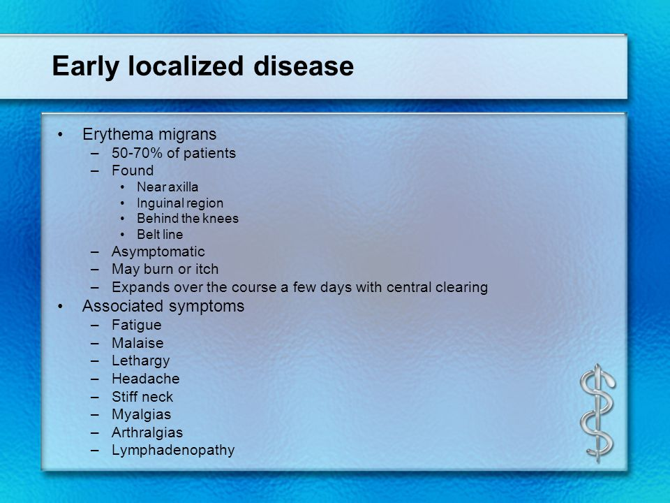 Early localized disease