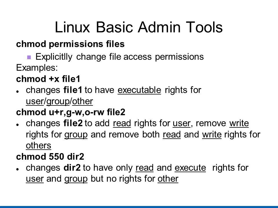 Linux Basic Admin Tools