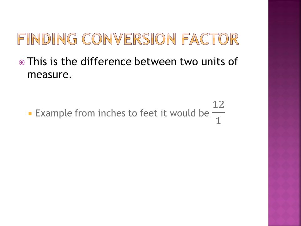 Finding conversion factor