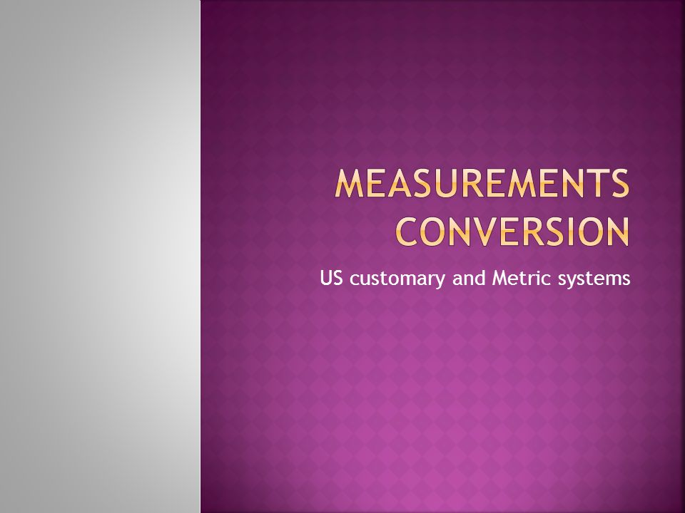 Measurements conversion