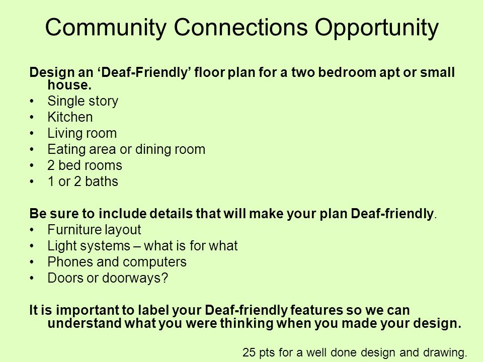 Community Connections Opportunity