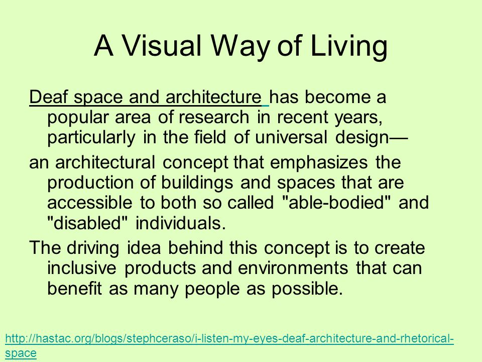 A Visual Way of Living