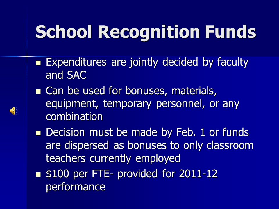 School Recognition Funds