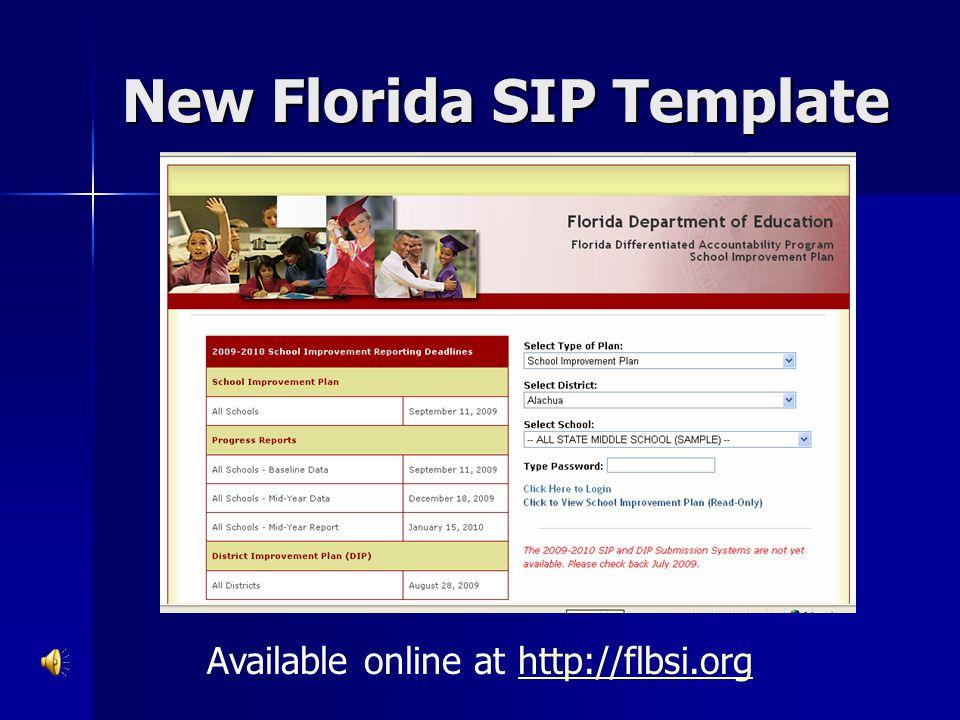 New Florida SIP Template