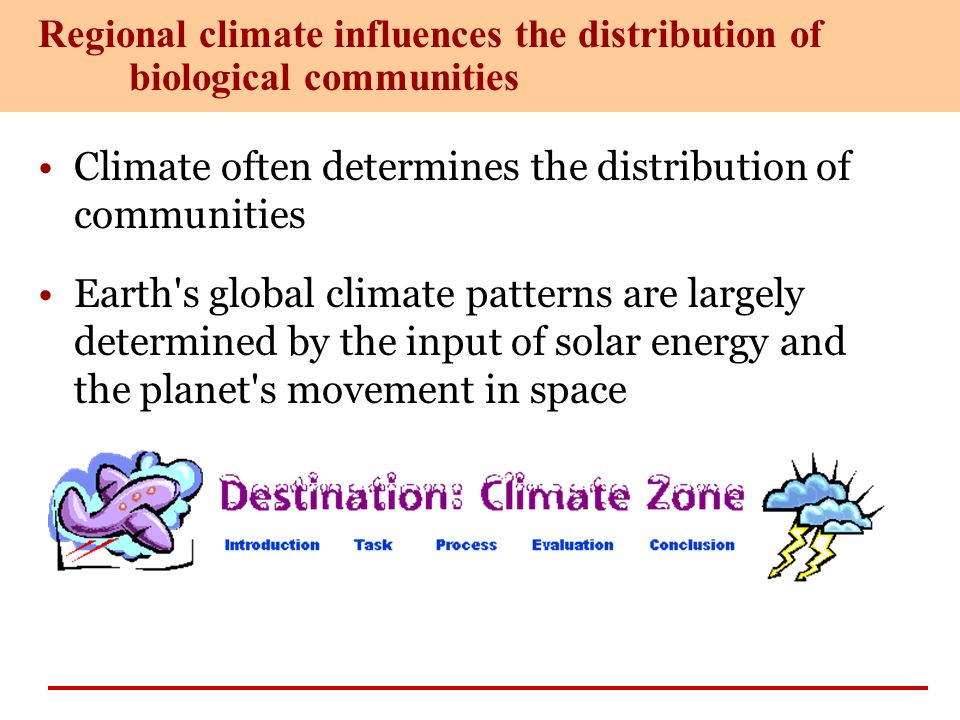 Regional climate influences the distribution of biological communities