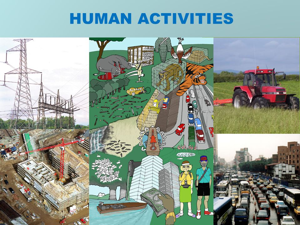 Do human activities cause landslides?