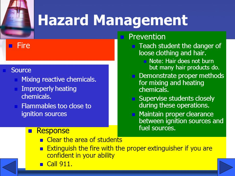 Hazard Management Prevention Fire Response