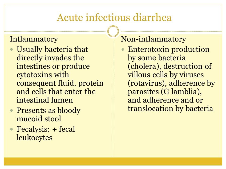 Acute infectious diarrhea