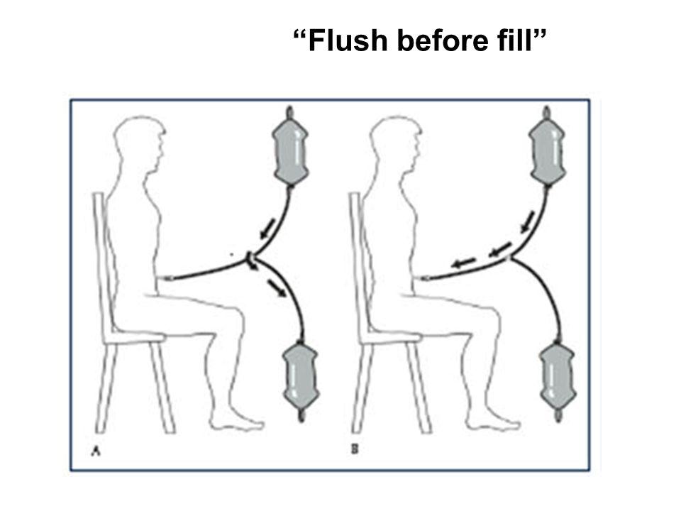 Flush before fill