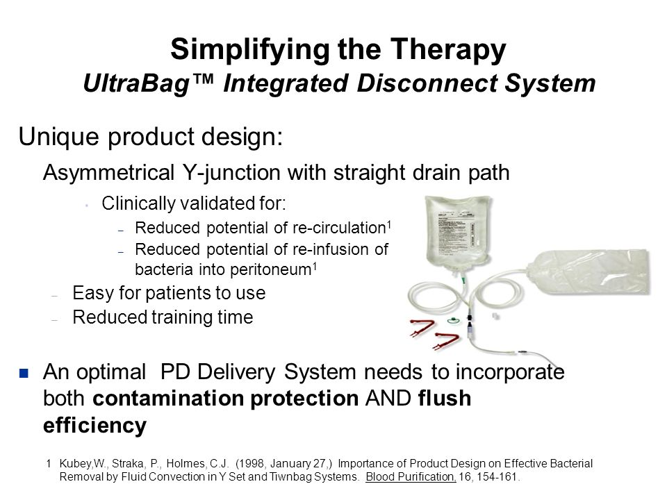 Simplifying the Therapy UltraBag™ Integrated Disconnect System