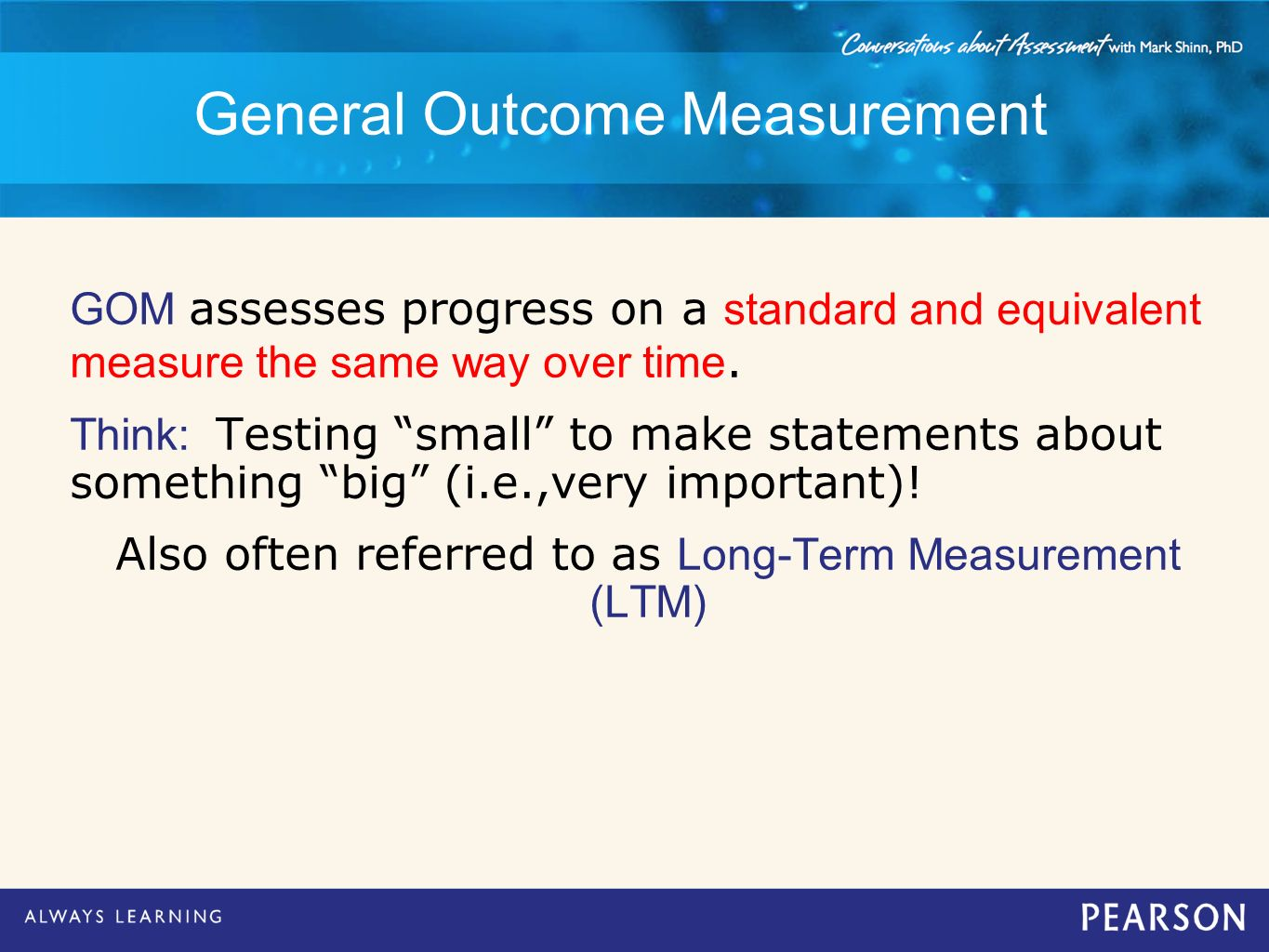General Outcome Measurement