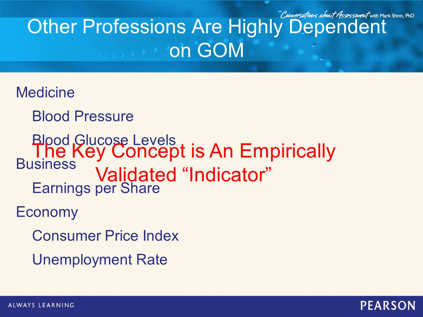 Other Professions Are Highly Dependent on GOM