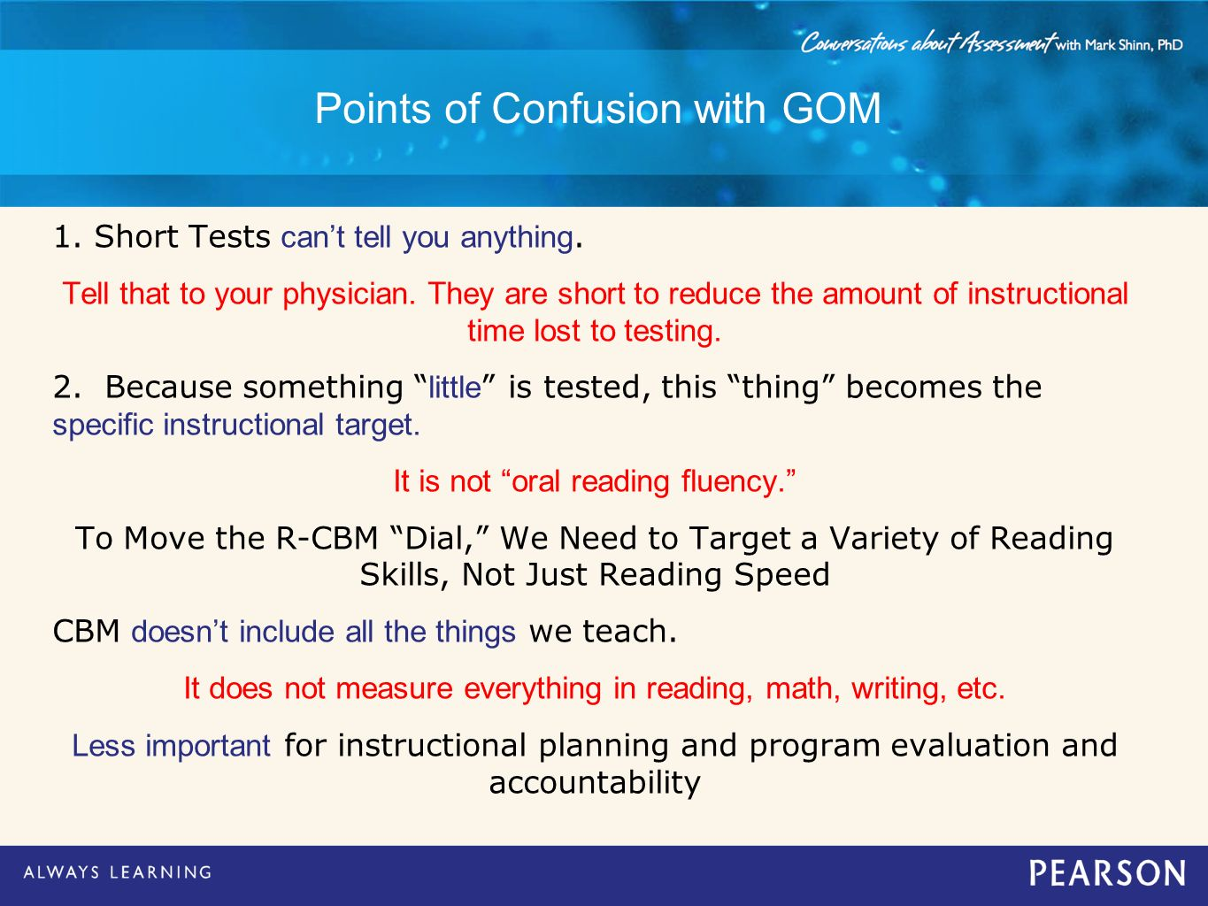 Points of Confusion with GOM