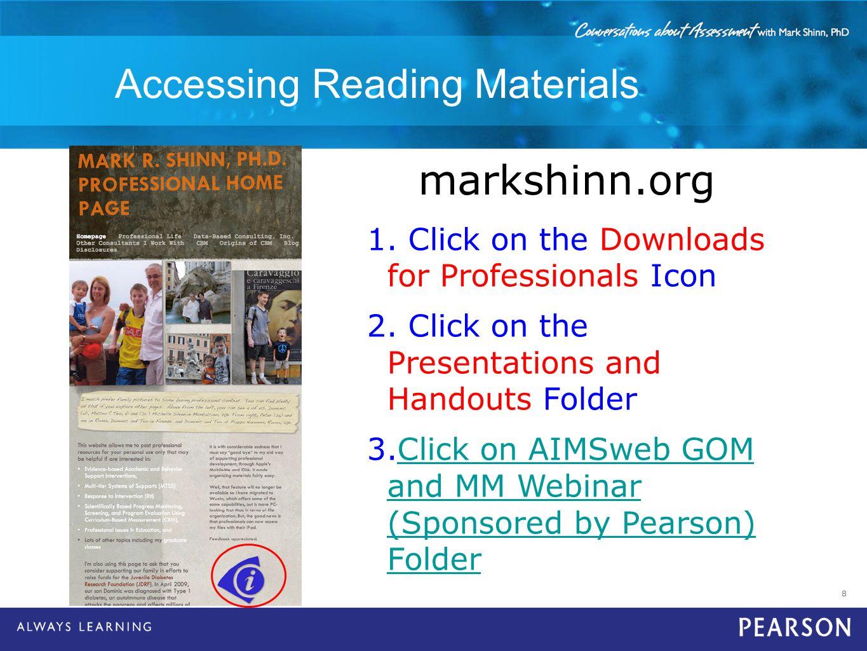 Accessing Reading Materials
