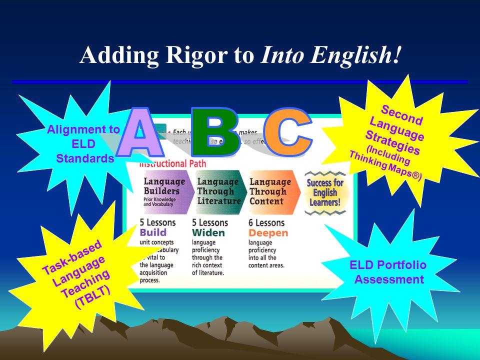Adding Rigor to Into English!