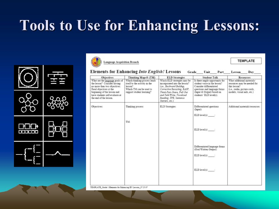 Tools to Use for Enhancing Lessons: