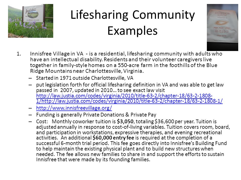 Lifesharing Community Examples