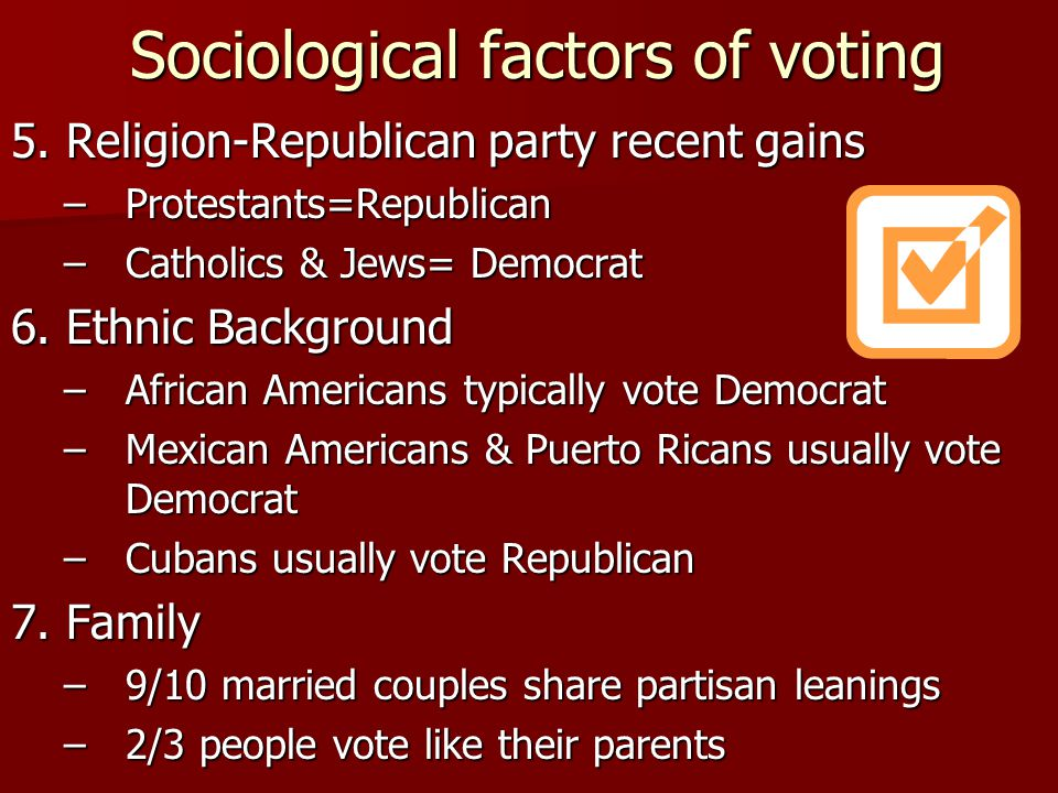 Sociological factors of voting