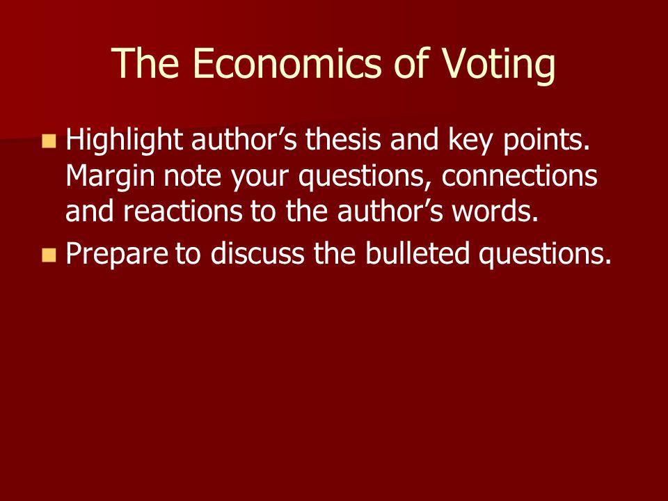 The Economics of Voting