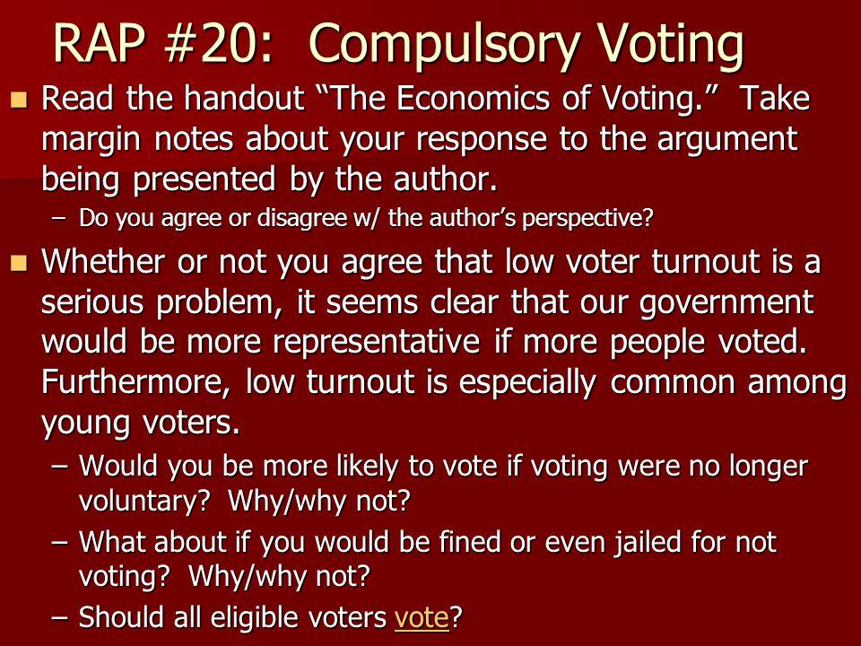RAP #20: Compulsory Voting