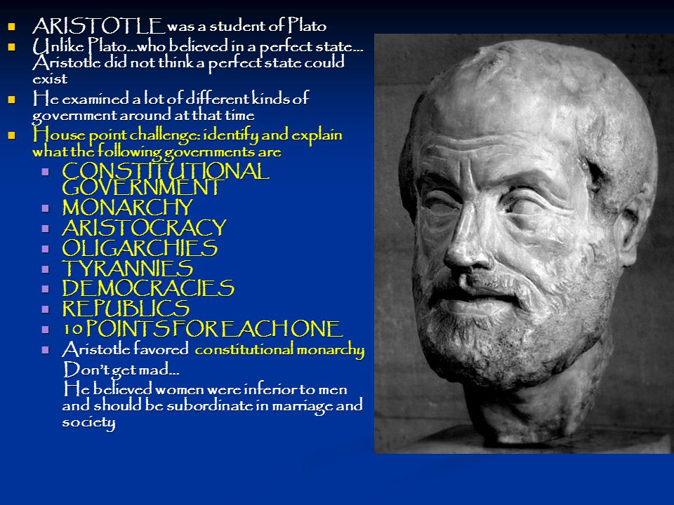 ARISTOTLE was a student of Plato