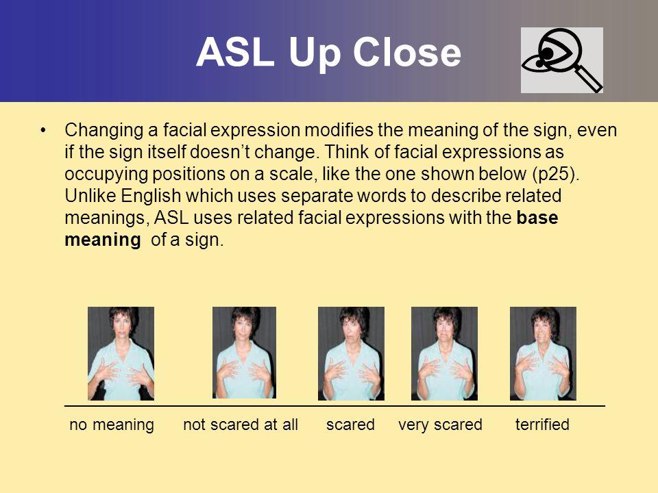 ASL Up Close