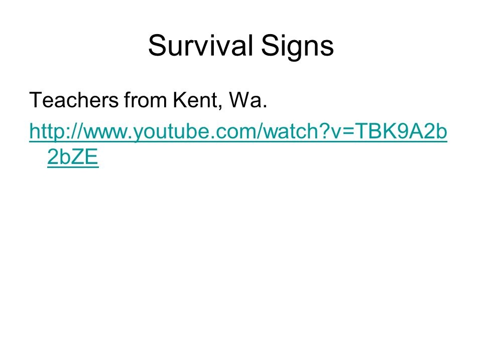 Survival Signs Teachers from Kent, Wa.