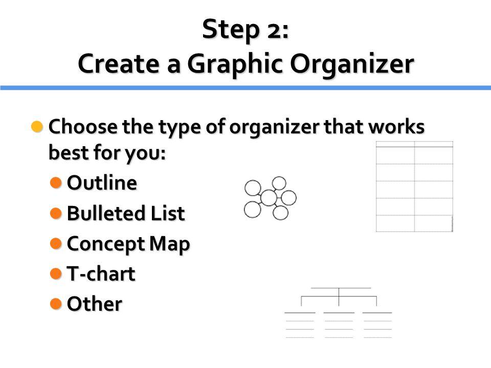Step 2: Create a Graphic Organizer