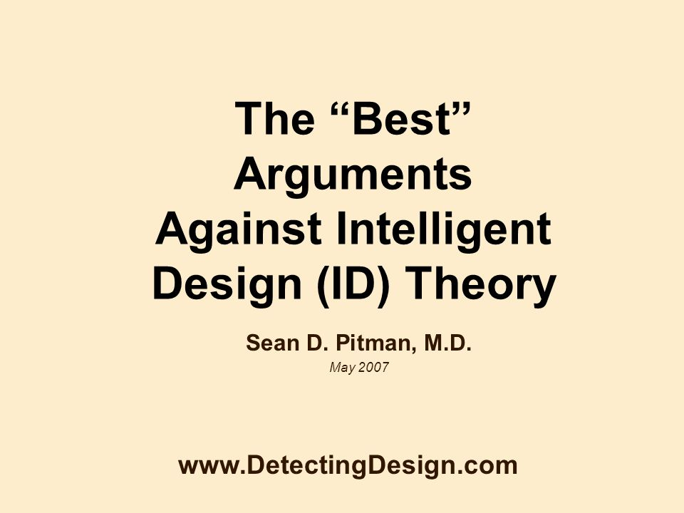 an examination of intelligent design id as a pseudoscientific theory Why intelligent design two independent lines of evidence have prompted a critical re-examination of the id is not a legitimate scientific theory.