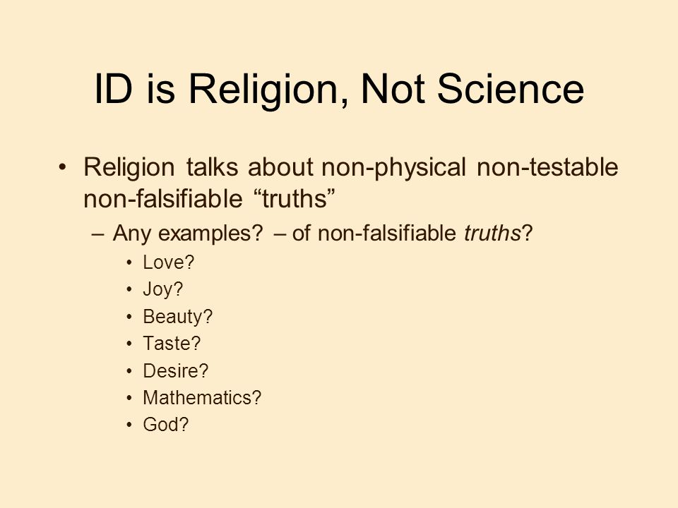 ID is Religion, Not Science