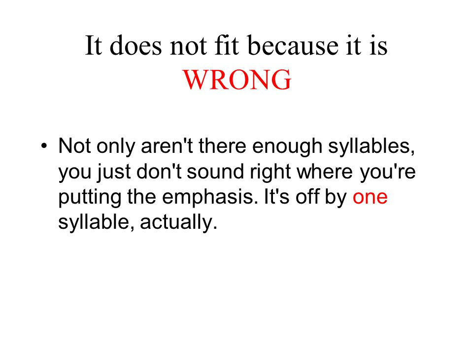 It does not fit because it is WRONG